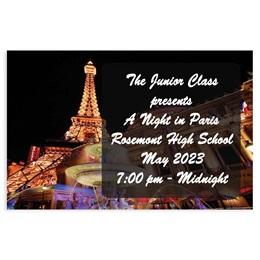 Full-color Ticket - Paris at Night