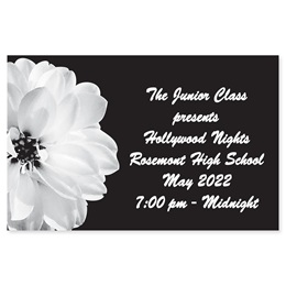Full-color Ticket - White Flower