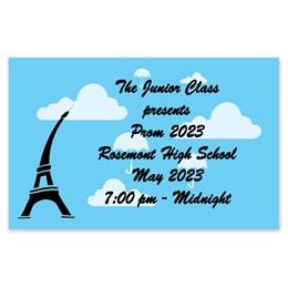 Full-color Ticket - Umbrellas Over Paris