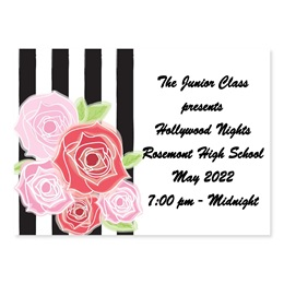 Full-color Ticket - Red Roses