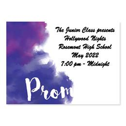 Full-color Ticket - Purple Watercolor Prom