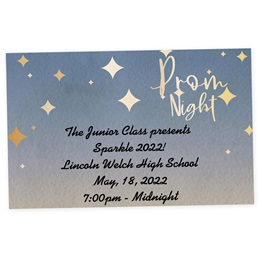 Full-color Ticket - Prom Night Stars