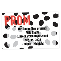 Full-color Ticket - Prom Polka Dots