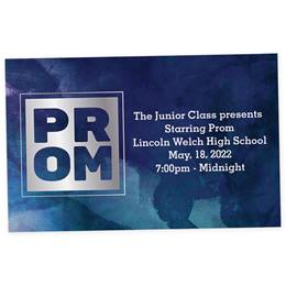 Full-color Ticket - Prom on Blue