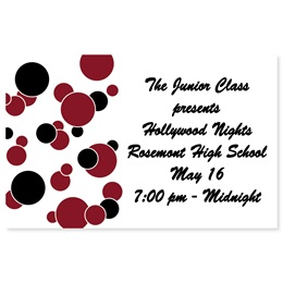 Full-color Ticket - Red and Black Bubbles