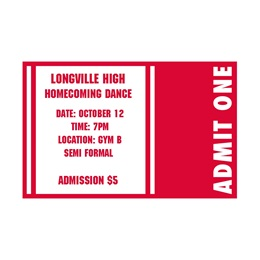 Red and White Spirit Ticket