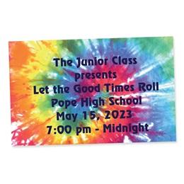 Full-color Ticket - Rainbow Tie Dye