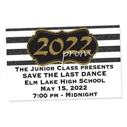 Full-color Ticket - Gold Glitter Prom 2021