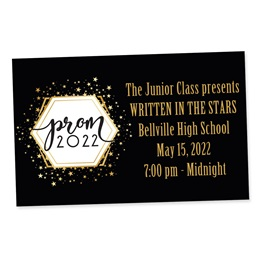 Full-color Ticket - Golden Cosmos Prom 2021