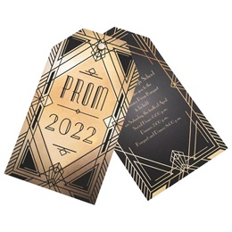 Geometric Flair Twisting Invitation