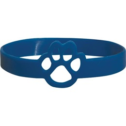 Blue Die-Cut Paw Wristband