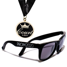Court Bling Medallion and Prom Sunglasses Set