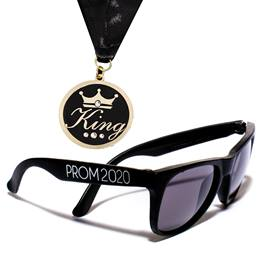King Bling Medallion and Prom Sunglasses Set
