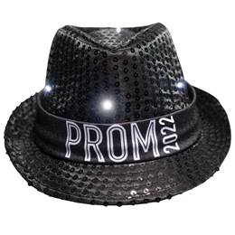 Black Light-up Fedora with Prom 2020 Band