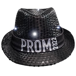 Black Light-up Fedora with Prom 2021 Band