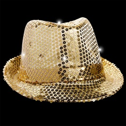 Light-up Gold Fedora with Band