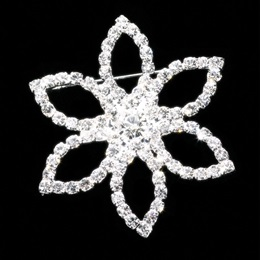 Diamond Flower Sash Pin