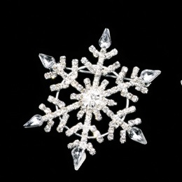 Diamond Snowflake Sash Pin