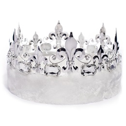 Fleur-de-Lis Crown - White Fur
