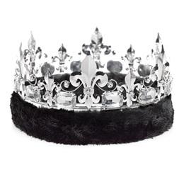 Fleur-de-Lis Crown - Black Fur