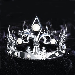 French Fleur de Lis Crown - Silver
