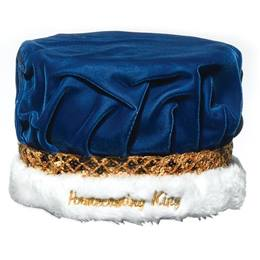 Homecoming King Crown with Embroidered Gold Band