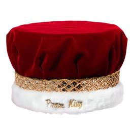 Prom King Crown with Gold Band and Embroidery