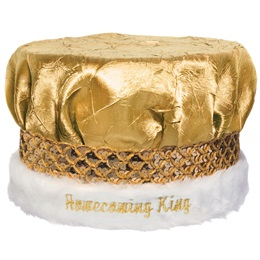 Crushed Satin Homecoming Crown - Gold