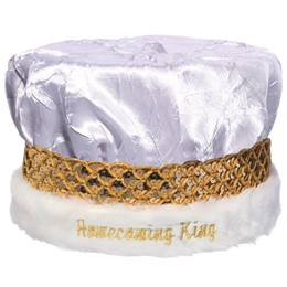 Crushed Satin Homecoming Crown - Silver