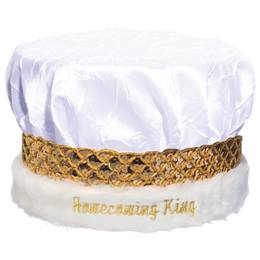 Crushed Satin Homecoming Crown - White