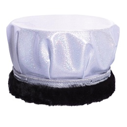 Glitter Dust Crown - White/Silver With Black Fur