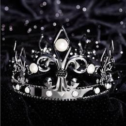 French Fleur de Lis Crown - Gunmetal