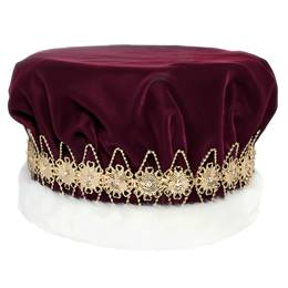 Burgundy/Gold Regal Crown