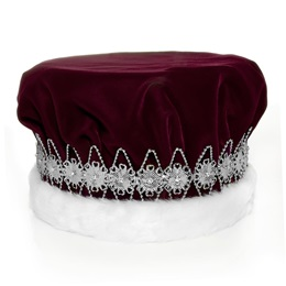 Burgundy/Silver Regal Crown