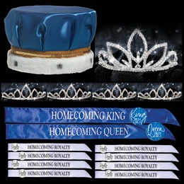 King and Queen Homecoming Coronation Set with Buttons - Natalia/Saba