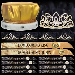Homecoming Coronation Set with Buttons - Gold Adele/Gold Chelsey