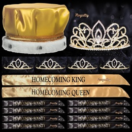 Homecoming Coronation Set with Pins - Gold Adele/Gold Chelsey