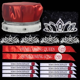 King and Queen Homecoming Coronation Set with Buttons - Shawnessy/Amara