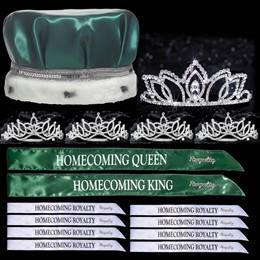 King and Queen Homecoming Coronation Set with Pins - Shawnessy/Amara