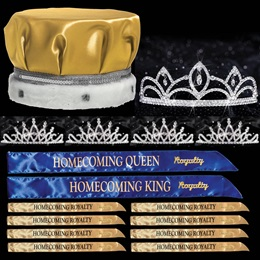 King and Queen Homecoming Coronation Set with Pins - Luna/Bobbi