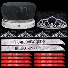 King and Queen Homecoming Coronation Set with Pins - Sosie/Karen