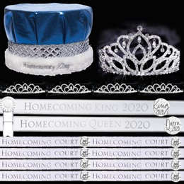 White and Silver Homecoming 2020 Coronation Set