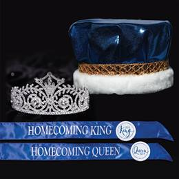 Metallic Homecoming King & Queen Set - Elsa Tiara