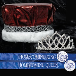 King and Queen Homecoming Set - Armande Tiara/Metallic Crown
