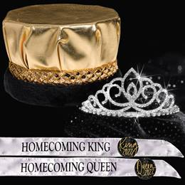 King and Queen Homecoming Set - SharonaTiara/Metallic Crown