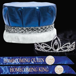 King and Queen Homecoming Set - Averie Tiara/Metallic Crown