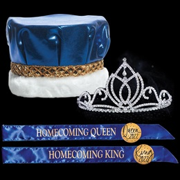 King and Queen Homecoming Set - Camila Tiara/Metallic Crown