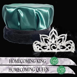 King and Queen Homecoming Set - Falling Star Tiara/Satin Crown