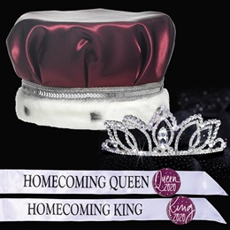 King and Queen Homecoming Set - Shawnessy Tiara/Satin Crown