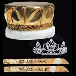 King and Queen Homecoming Set - Verona Tiara/Metallic Crown